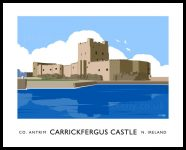 Art print of Carrickfergus Castle