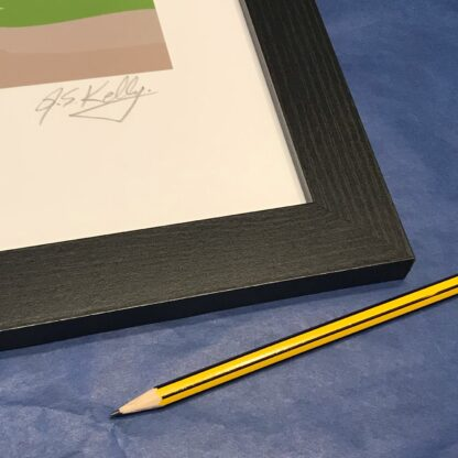 Signed and framed art print