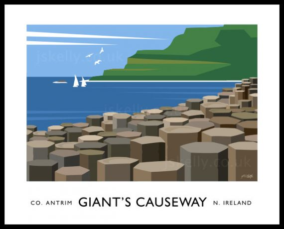 Art print of The Giants Causeway