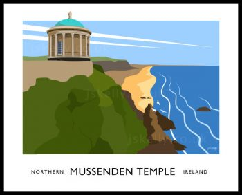 Art print of Mussenden Temple.