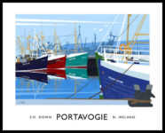 PORTAVOGIE travel poster