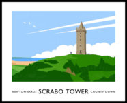 Vintage style art print of Scrabo Tower, Newtownards.