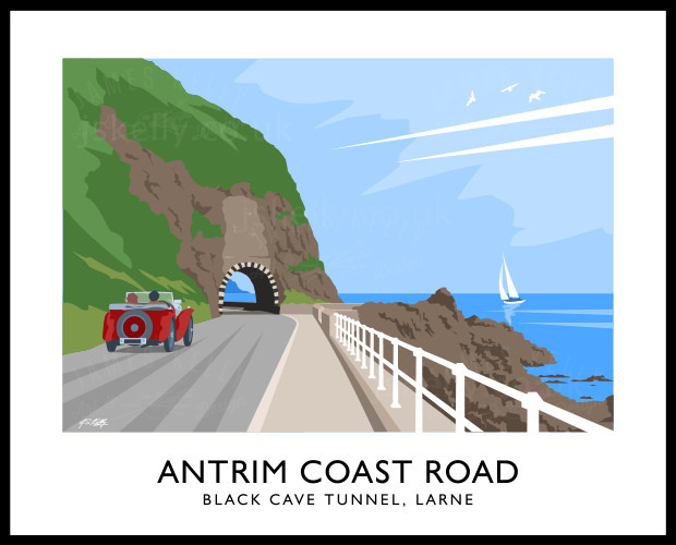 Art print of Antrim Coast Road.