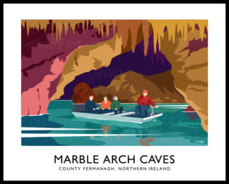 Art print of Marble Arch Caves, County Fermanagh.