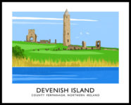 DEVENISH ISLAND travel poster