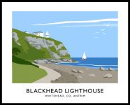 BLACKHEAD LIGHTHOUSE travel poster