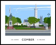 COMBER SQUARE travel poster