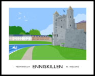 ENNISKILLEN CASTLE travel poster