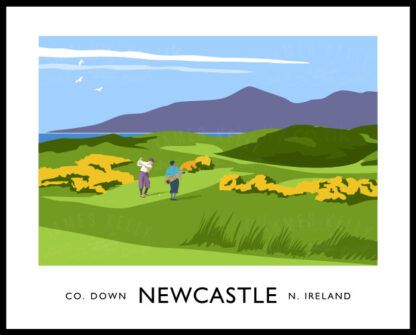 Golfers at Newcastle, County Down