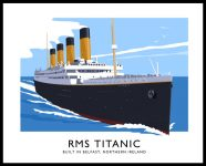 RMS TITANIC travel poster