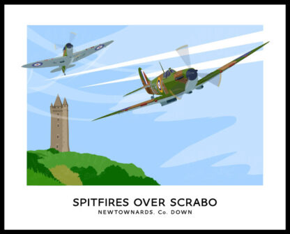 Spirfires over Scrabo Tower