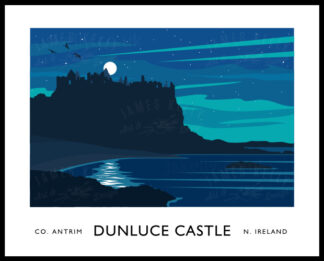 Dunluce Castle and the Northern Lights