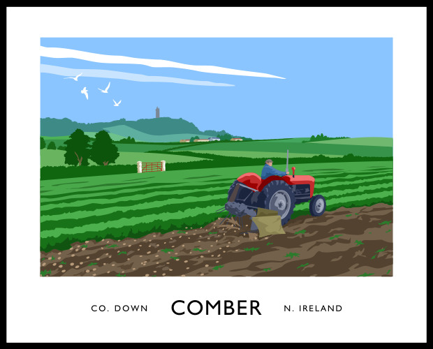 COMBER (tractor & potatoes)