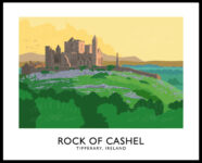 Vintage style art print of the Rock of Cashel, County Tipperary