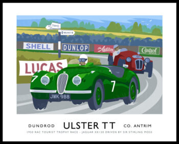 Jaguar in the 1950 Ulster TT at Dundrod.