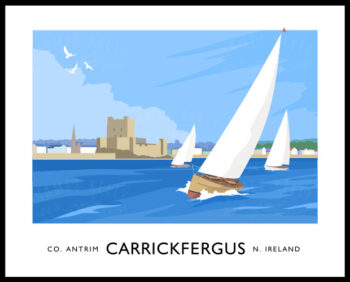Sailing yachts off Carrickfergus