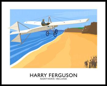 Harry Ferguson flying is monoplane over Magilligan Strand