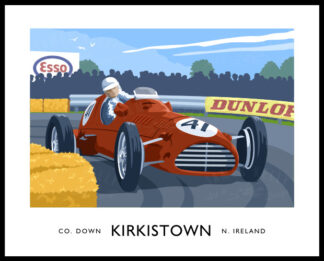 Travel poster art print of Kirkistown Motor Racing Circuit