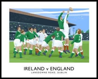 6 Nations Rugby International, Ireland v England at Lansdowne Road, Dublin