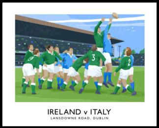 6 Nations Rugby International, Ireland v Italy at Lansdowne Road, Dublin