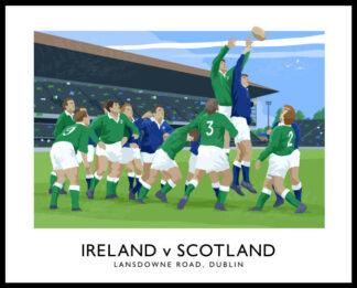 6 Nations Rugby International, Ireland v Scotland at Lansdowne Road, Dublin