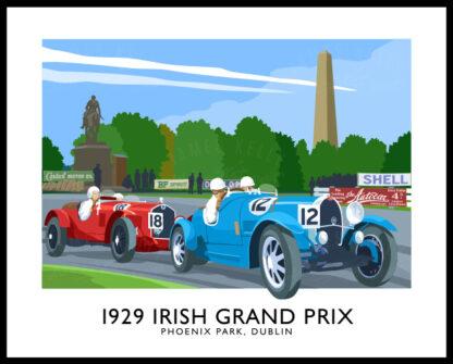1929 Irish Grand Prin in Phoenix Park, Dublin.