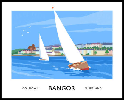 Sailing boats at Bangor seafront
