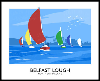 Sailing yachts on Belfast Lough