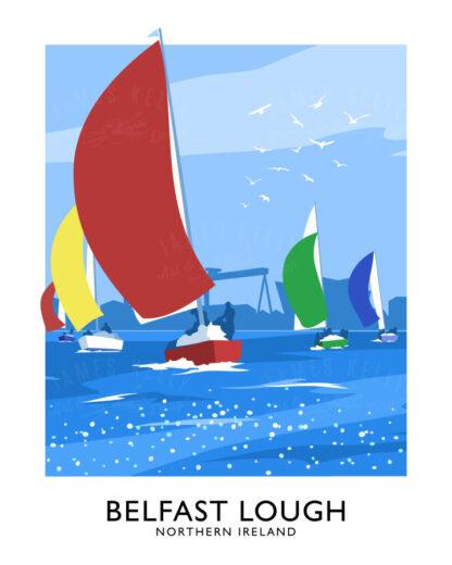 Sailing yachts on Belfast Lough