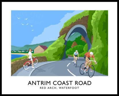 The Red Arch on the Antrim Coast Road near Waterfoot.