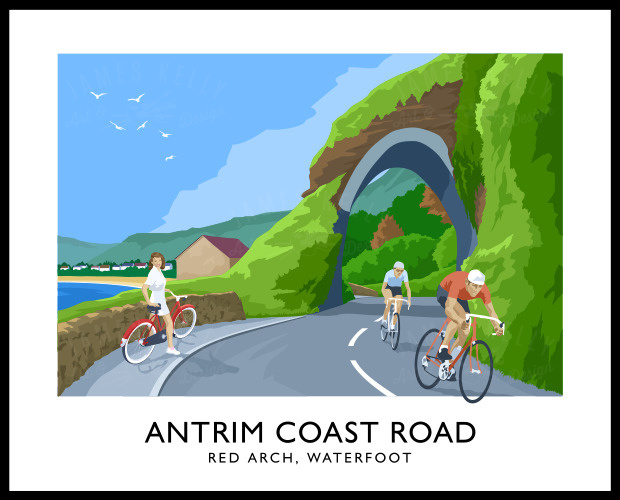 ANTRIM COAST ROAD - RED ARCH