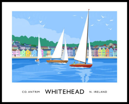 Sailing yachts at Whitehead, County Antrim