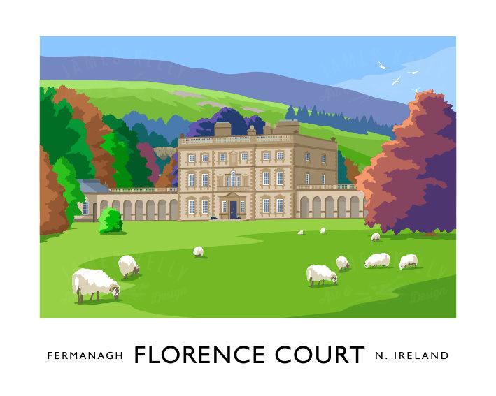 Florence Court Enniskillen Vintage Style Art Prints Of