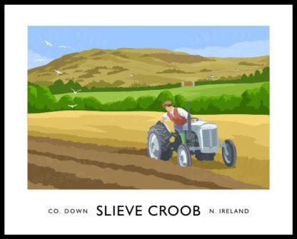Ferguson TE20 tractor near Slieve Croob, County Down