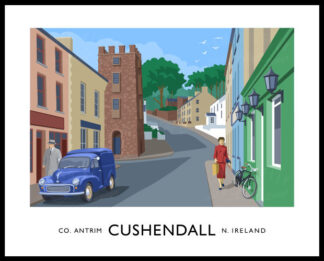 The Curfew Tower in Cushendall, County Antrim.