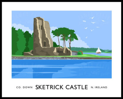 Sketrick Castle near Whiterock, County Down