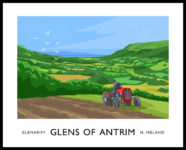 Vintage style art print of Glenariff in the Glens of Antrim