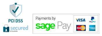 PCI-DSS Secured by Elavon. Payments by Sagepay