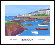 Vintage style art print of The Long Hole, Bangor, County Down
