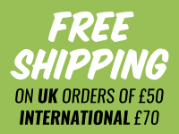 Freeshipping on UK orders of 50.00 and International orders of 70.00