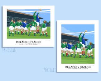 6 Nations Rugby International, Ireland v France at Lansdowne Road, Dublin