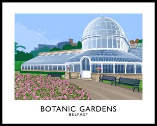 Vintage style art print of Botanic Gardens, Belfast