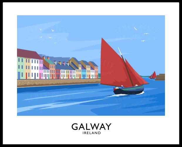 GALWAY (Long Walk - Claddagh)
