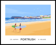 PORTRUSH (West Strand) travel poster
