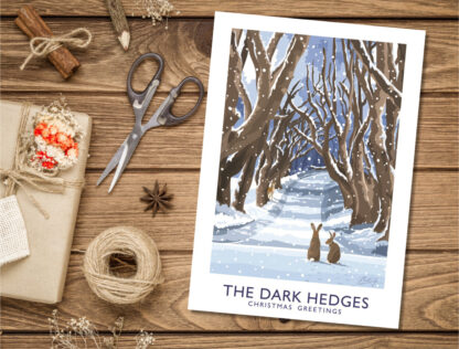 Christmas Card of the Dark Hedges