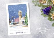 Christmas Card of the McKee Clock, Bangor