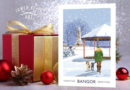 Christmas Card of Ward Park, Bangor