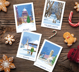 A selection of James Kelly Art Christmas Cards
