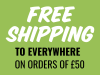 FREE SHIPPINF on orders of 50 GBP or more