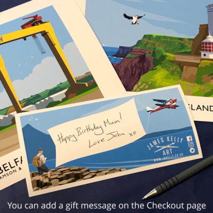 You can add a free gift message on the Checkout page